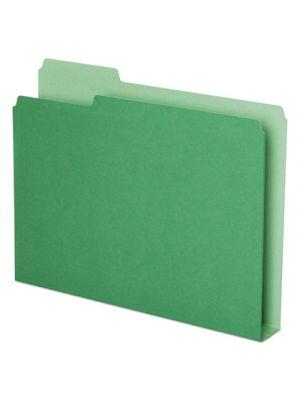 Double Stuff File Folders, 1/3 Cut, Letter, Green, 50/Pack
