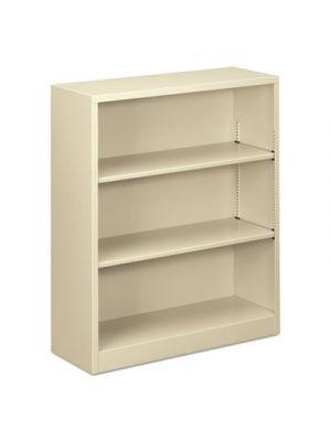 Steel Bookcase, 3-Shelf, 34.5