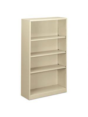 Steel Bookcase, 4-Shelf, 34.5