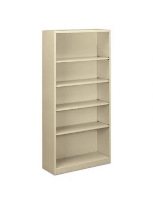 Steel Bookcase, 5-Shelf, 34.5
