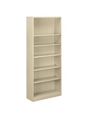 Steel Bookcase, 6-Shelf, 34.5