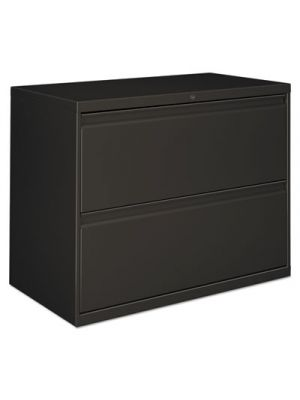 Two-Drawer Lateral File Cabinet, 36w x 19-1/4d x 28-3/8h, Charcoal