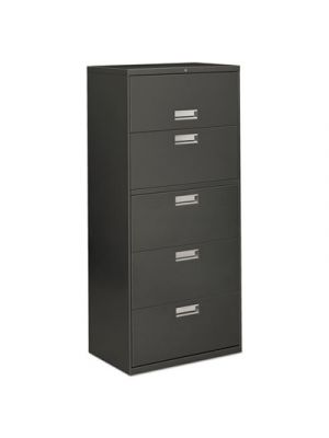 Three-Drawer Lateral File Cabinet, 30w x 19-1/4d x 40-7/8h, Charcoal