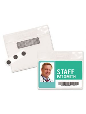 Magnetic-Style Name Badge Kits, Horizontal, 4