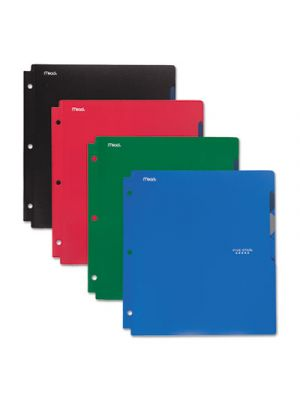 Quick-View Plastic Folder, 20 Sheets, 8 1/2 x 11, Assorted, Traditional, 4/Set