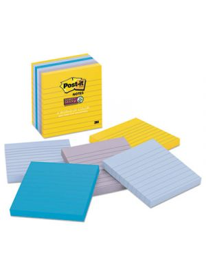 Pads in New York Colors Notes, 4 x 4, 90-Sheet, 6/Pack
