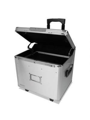Mobile File Chest w/Electronic Lock, Letter/Legal, 14.5 x 16.25 x 14.25, Silver