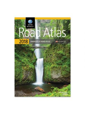 Road Atlas, Glue Top, 144 Pages, 2018 Edition