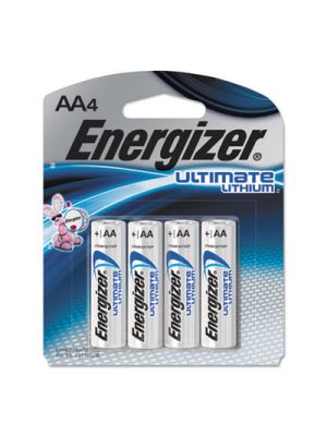 Ultimate Lithium Batteries, AA, 4/Pack
