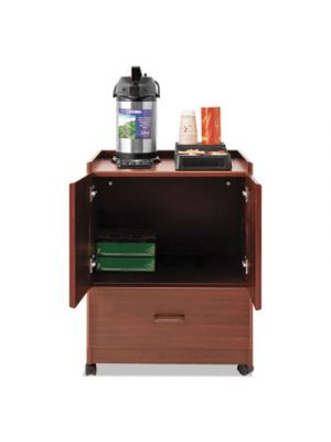Mobile Deluxe Coffee Bar, 23w x 19d x 30 3/4h, Cherry