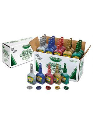Glitter Glue Classpack, 4 oz, Liquid Arts/Crafts Glue, 20 per Set