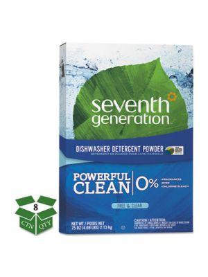 Natural Automatic Dishwasher Powder, Free & Clear, Jumbo 75oz Box, 8/CT