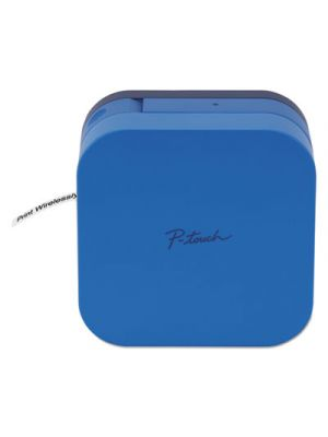 P-touch CUBE, 2 Lines, 2 1/2w x 4.6d x 4.6h, Blue