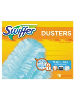 Dusters Refill, Fiber Bristle, Light Blue, 18 Count