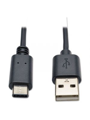 USB 2.0 Gold Cable, USB Type-A Male to USB Type-C Male, 6 ft