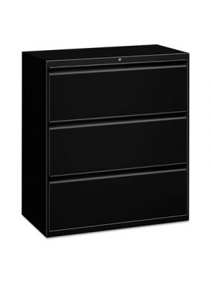 Three-Drawer Lateral File Cabinet, 30w x 19-1/4d x 40-7/8h, Black