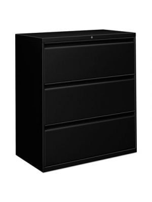 Three-Drawer Lateral File Cabinet, 36w x 19-1/4d x 40-7/8h, Black