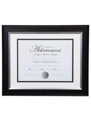 2-Tone Document Frame, Plastic, 8.5