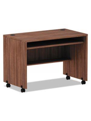 Alera Valencia Series Mobile Workstation Desk, 41.38 x 23.63 x 29.88, Mod Walnut