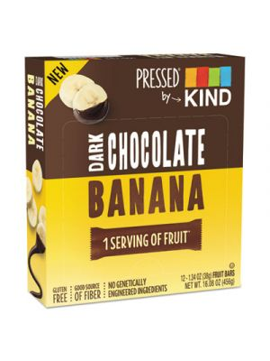 Pressed by KIND Bars, Dark Chocolate Banana, 1.34 oz, 12/Pack