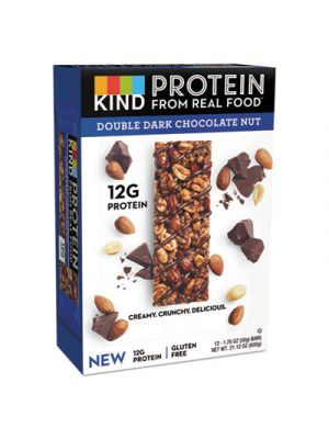 Protein Bars, Double Dark Chocolate, 1.76 oz, 12/Pack