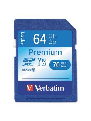 64GB Premium SDXC Memory Card, UHS-I V10 U1 Class 10