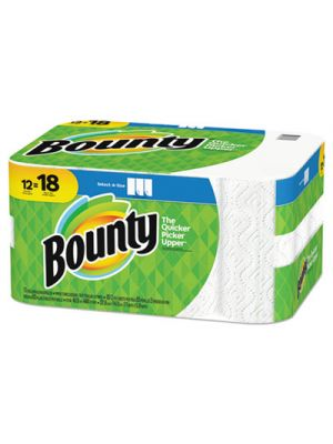 Select-a-Size Paper Towels, 2-Ply, White, 5.9 x 11, 83 Sheets/Roll, 12 Rolls/CT