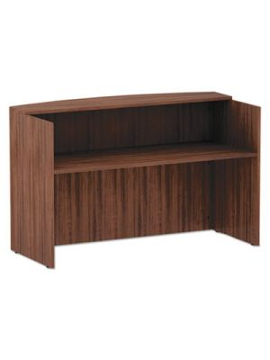 Alera Valencia Series Reception Desk w/Counter, 71 x 35 1/2 x 42 1/2, Mod Walnut