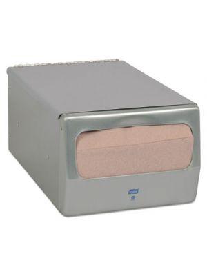 Masterfold Napkin Dispenser, 7.62w x 11.75d x 5.63h, Brushed Steel
