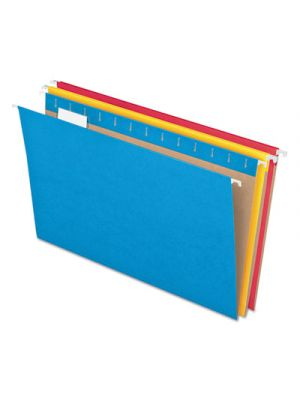 Colored Hanging Folders, 1/5 Tab, Letter, 5 Assorted Colors, 25/Box