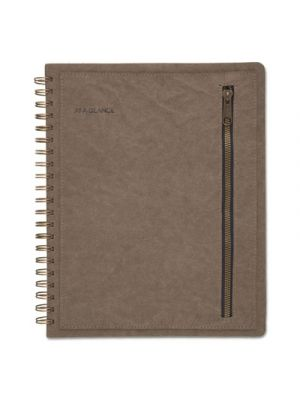 Signature Collection Distressed Green Monthly Planner, 8 3/8 x 11, Green, 2019