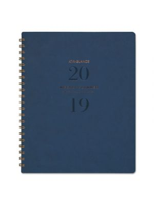 Signature Collection Firenze Navy Weekly/Monthly Planner, 8 3/8 x 11, 2019