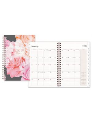 Joselyn Weekly/Monthly Wirebound Planner, 5 x 8, Light Pink/Peach/Black, 2019