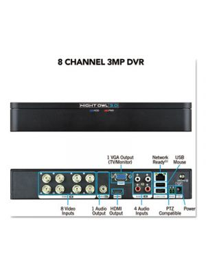 8 Channel Extreme HD 3MP DVR, 1080p Resolution