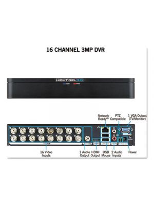 16 Channel Extreme HD 3MP DVR, 1080p Resolution