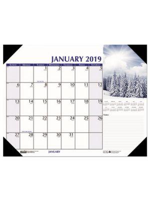 Earthscapes Scenic Desk Pad Calendar, 22 x 17, 2019