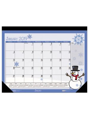 Earthscapes Seasonal Desk Pad Calendar, 18 1/2 x 13, 2019