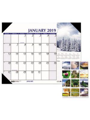 Earthscapes Scenic Desk Pad Calendar, 18 1/2 x 13, 2019