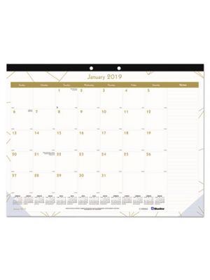 Gold Collection Monthly Desk Pad, 22 x 17, 2019