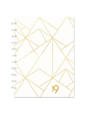 Gold Collection Monthly Planner, 11 x 9 3/5, White and Gold, 2019
