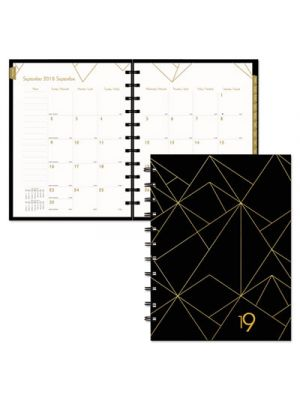 Gold Collection Monthly Planner, 11 x 9 3/5, White and Black, 2019