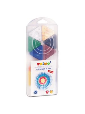 Primo Triangle Crayons, Assorted Colors, 12/Pack