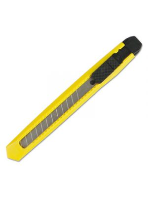 Snap Blade Knife, Retractable, Snap-Off, Straight-Edged, Yellow