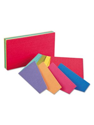Extreme Index Cards, 4 x 6, Two-Tone Assorted, 100/Pack