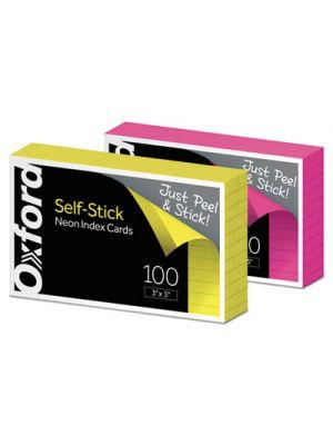 Self-Stick Index Cards, 3 x 5, Assorted, 100/PK