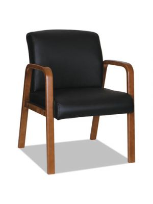 Alera Reception Lounge WL Series Guest Chair, 20 7/8x20 7/8x17 7/8, BK/Walnut