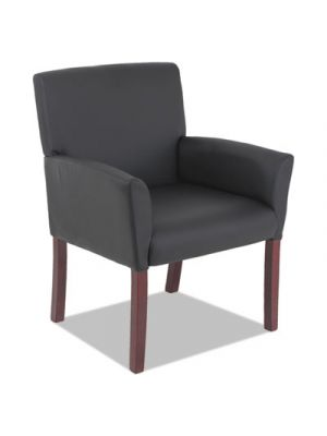 Alera Reception Lounge 600 Series Guest Chair, 19.75 x 19.75 x 18.86, BK/MAH