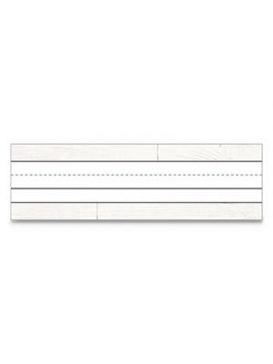 Nameplates, 9 1/2 w x 2.88 h, White, 36/PK