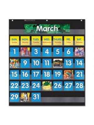 Monthly Calendar Pocket Chart, 43 Pockets, 25