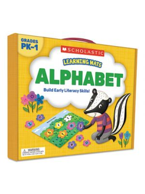 Learning Mats Kit, Alphabet Game, 70 Cards, Ages 3 and Up